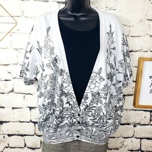 Cathy Daniels Womens Short Sleeve Cardigan Top XL